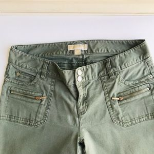 Michael Kors Jeans Faded Olive Green size 12